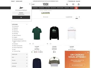 Yoox : Lacoste