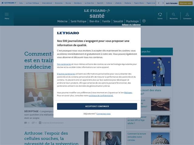 Le Figaro : Santé
