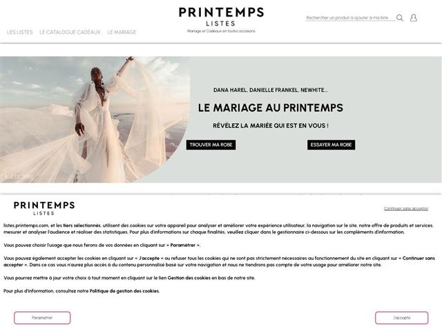 Printemps : Listes de mariage