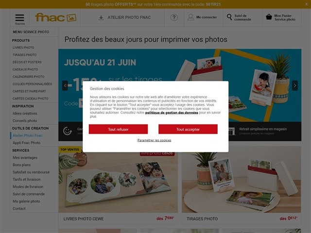 FNAC : Tirage photo