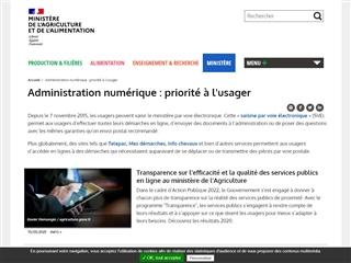 Ministère de l'Agriculture et de l'Alimentation : Administration Numérique au Service de l'Usager