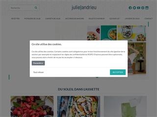 Julie Andrieu, Site Officiel