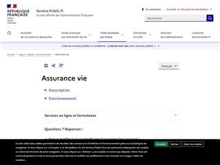 Service Public : Assurance Vie