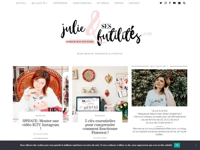 Julie & ses Futilités : Blogging