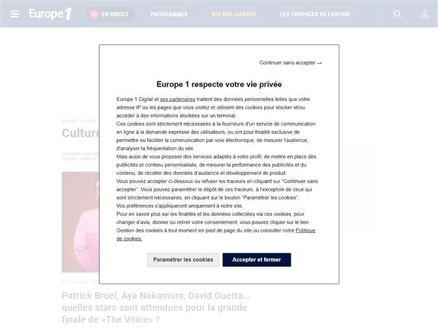 Europe 1 : Culture