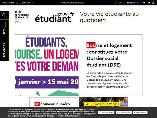 Etudiants.gouv - Cnous - Crous