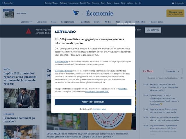 Le Figaro : Economie