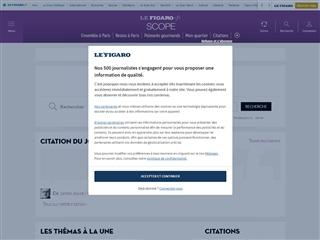 FigaroScope : Citations