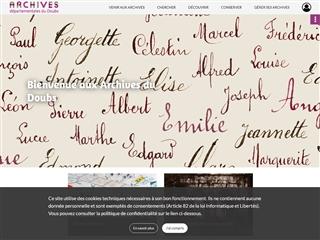 Doubs (25) - Archives départementales