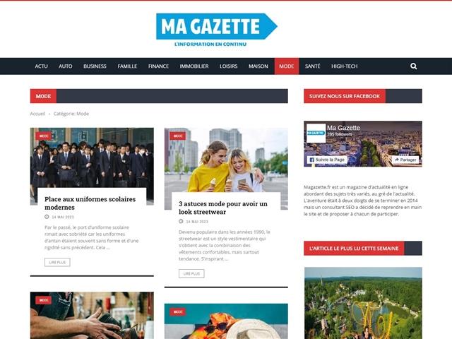 Ma Gazette : Mode