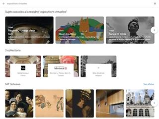 Arts & Culture Google : Expositions Virtuelles
