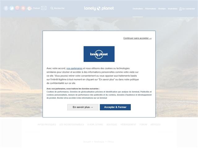 Lonely Planet : Pérou
