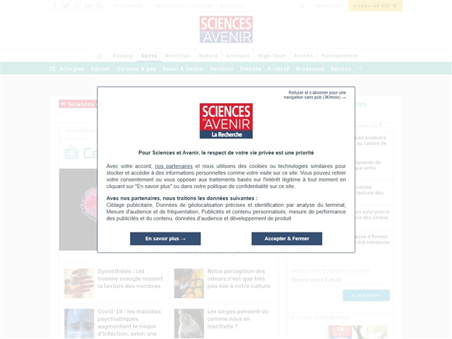 Sciences et Avenir : Santé / Cerveau et Psy