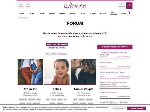 Au féminin : Forums