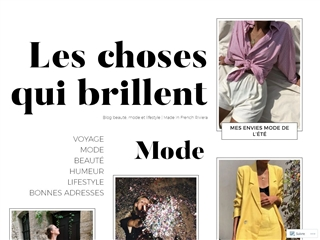 Les Choses qui Brillent : Mode