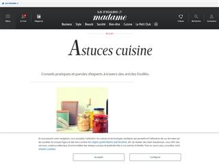 Le Figaro Madame : Astuces Cuisine