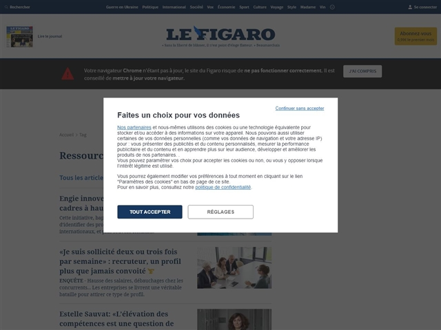 Le Figaro : Ressources humaines