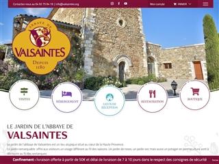 Abbaye de Valsaintes - Roseraie et Jardin