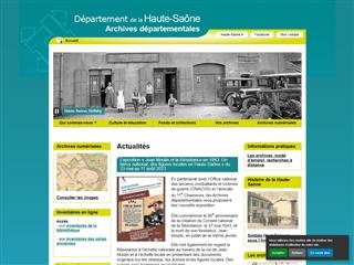 Haute-Saône (70) - Archives départementales