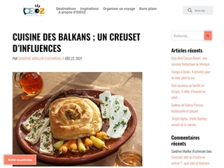 IDEOZ : cuisine des Balkans