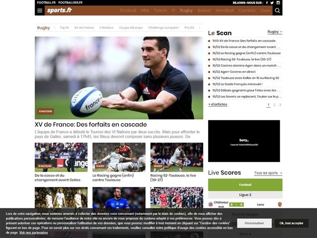 Sports.fr : Rugby
