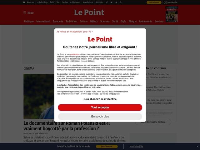 Le Point : Cinéma