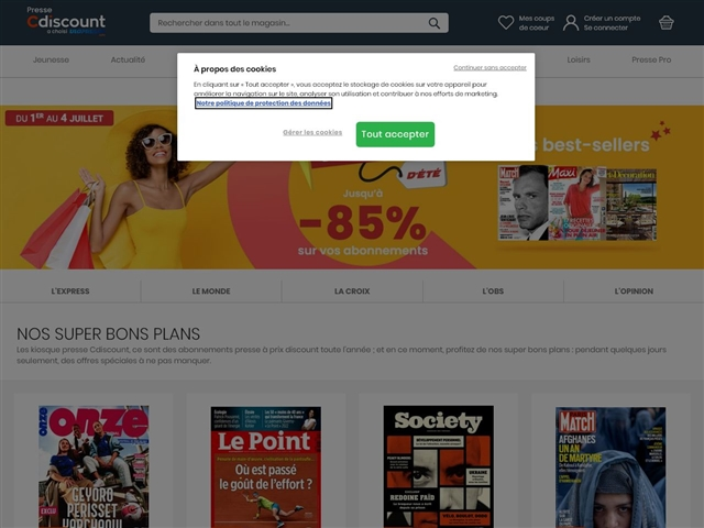 Cdiscount : Abonnement presse et magazines