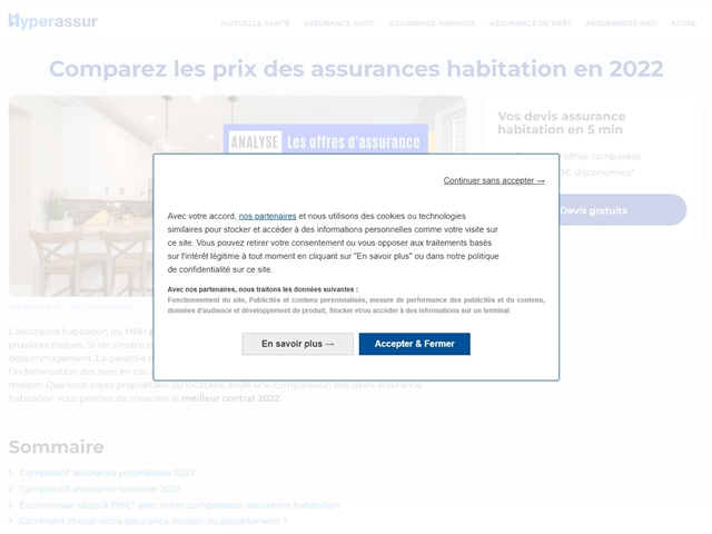 Hyperassur : assurance habitation