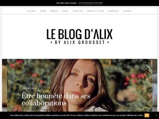 Le Blog d'Alix