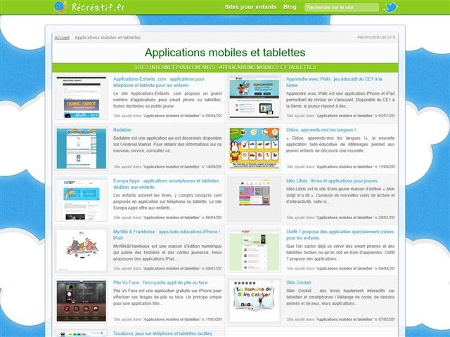 Récréatif.fr : Applications mobiles et tablettes