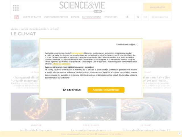 Science et Vie : Climat