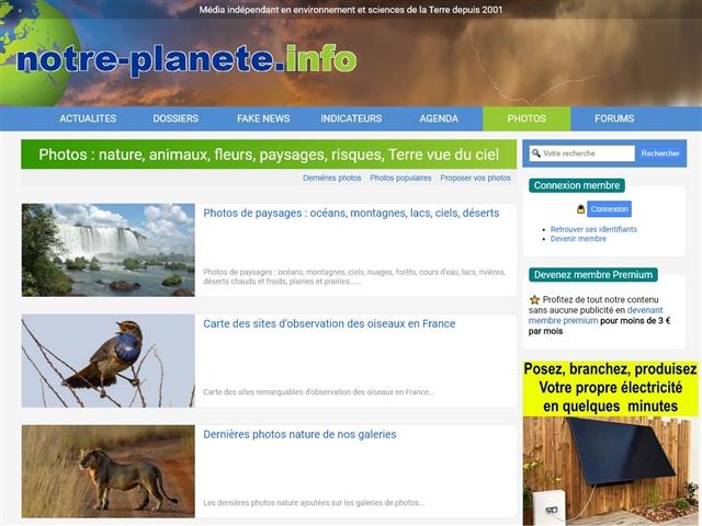 Notre planète info : Photos