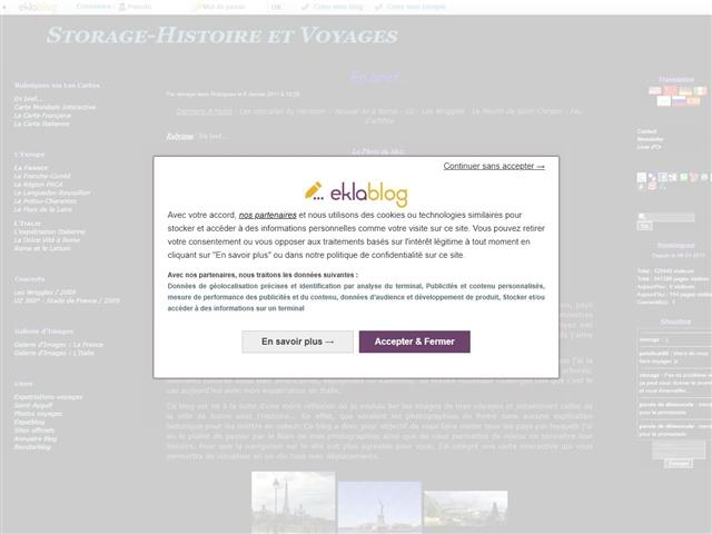 Storage-Histoire et Voyage