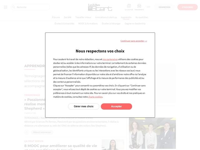 Les Echos : Start : Apprendre