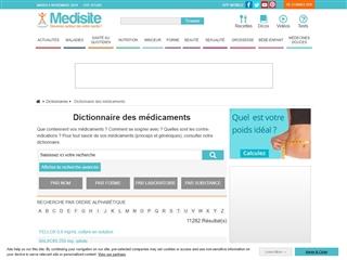 Medisite : Médicaments