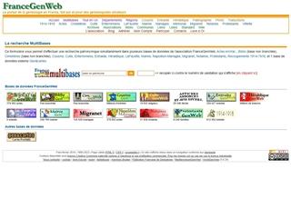FranceGenWeb : recherche multibases
