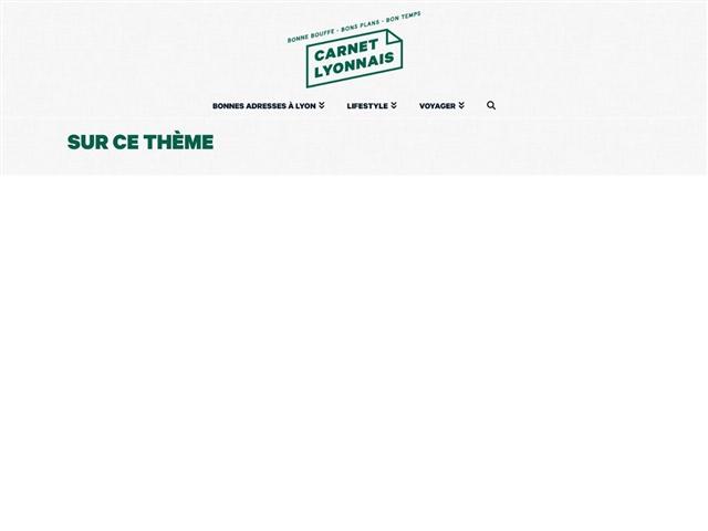 Carnet Lyonnais : Ecoresponsable