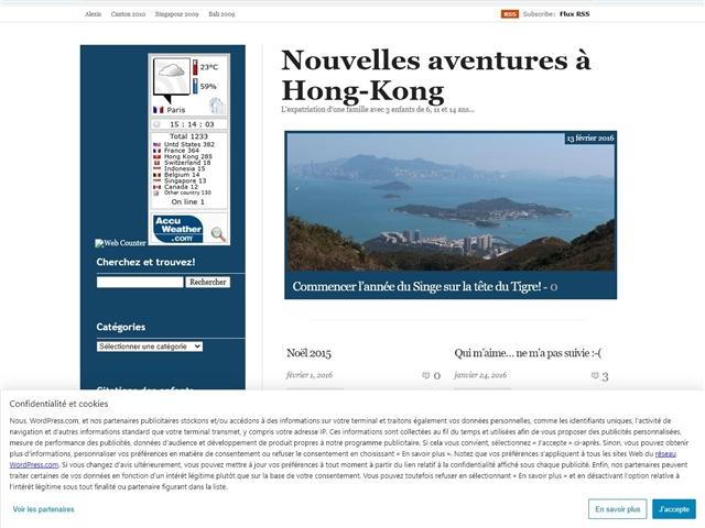 Nouvelles Aventures à Hong Kong