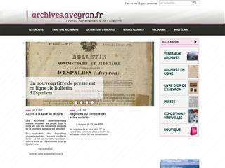 Aveyron (12) - Archives départementales