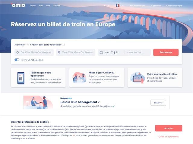 Omio : Trains