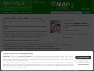 Recettes.de : recettes de cuisine du monde