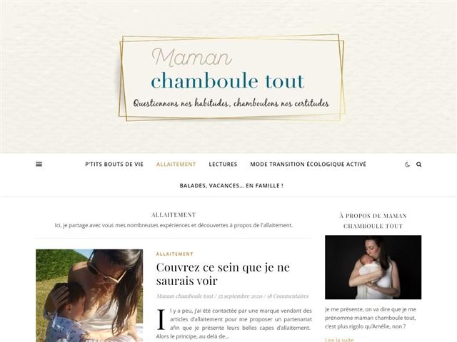 Maman Chamboule Tout : Allaitement