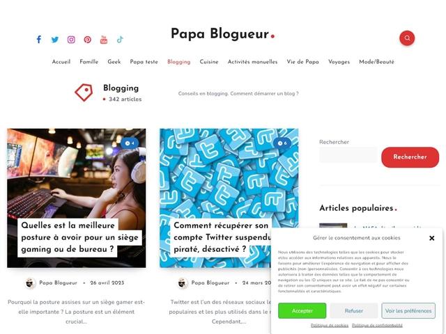 Papa Blogueur : Blogging