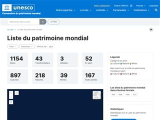 Unesco  : Lieux Classés au Patrimoine Mondial