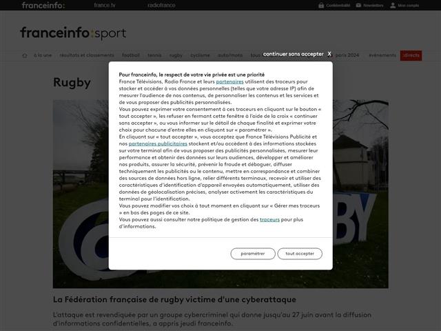 FranceTV Sport : Rugby