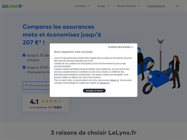Le Lynx.fr : assurance moto