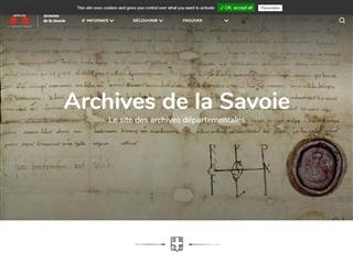 Savoie (73) - Archives départementales