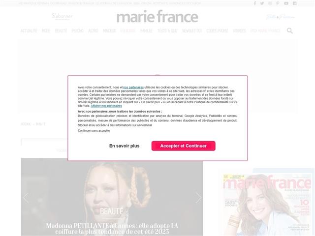 Marie France : Beauté