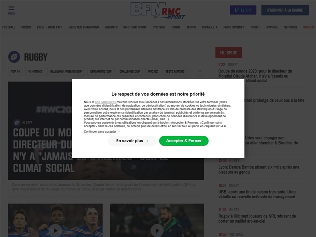 RMC Sport : Rugby
