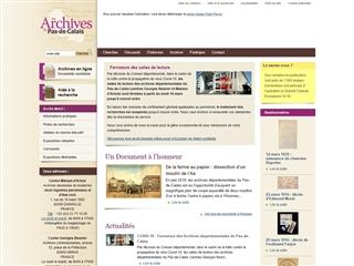 Pas de Calais (62) - Archives départementales